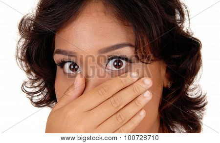 Closeup Picture Of Very Surprised Woman.