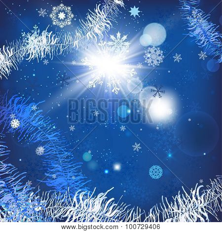 Christmas tinsel background