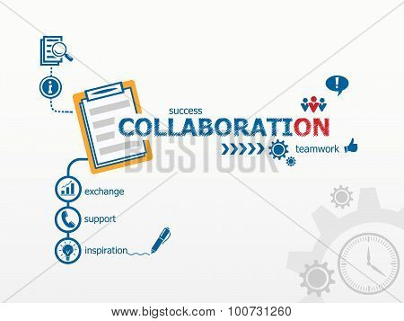 Collaboration Concept And Notebook.
