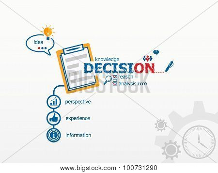 Decision Concept And Notebook For Efficiency, Creativity, Intelligence