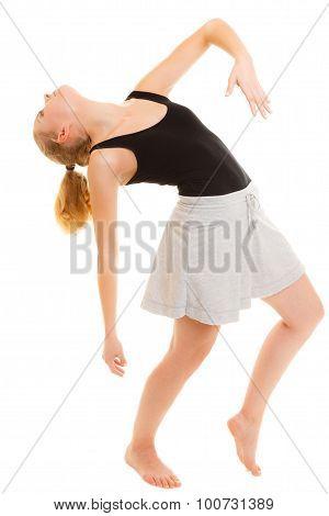 Woman Dancer Teen Girl Break Dancing