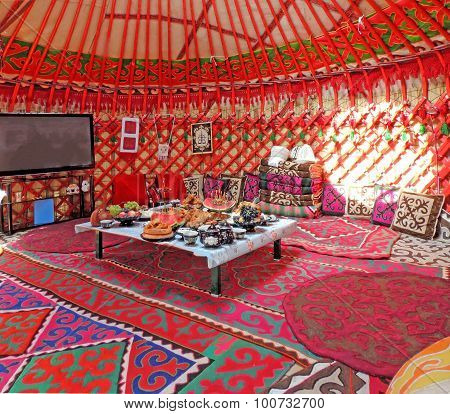 Inside The Kyrgyz Yurt