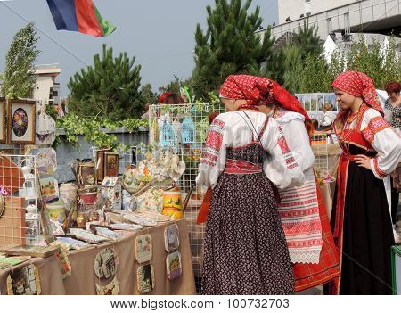 Girls In Belorussian National Costumes