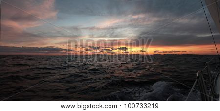 Sunset Sailing In Greece