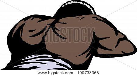 Black Man Laying Down