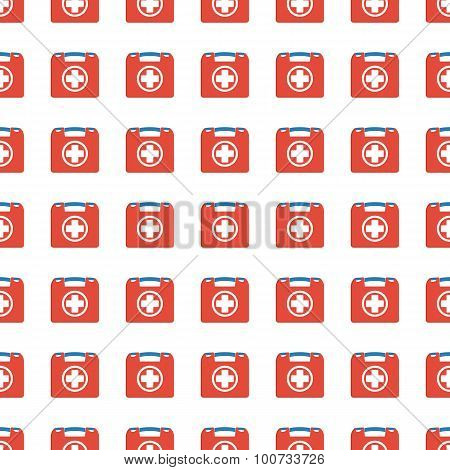 First Aid Seamless Pattern. Vector