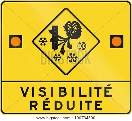 Reduced Visibility In Canada