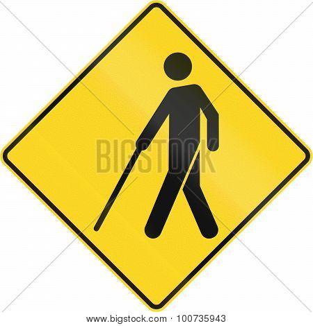 Bilnd People Warning Sign In Canada