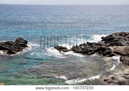 Waves Fill Ocean Cove