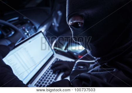 Hacker Inside The Car