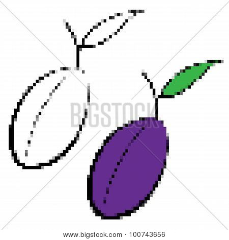 Pixelated Plums