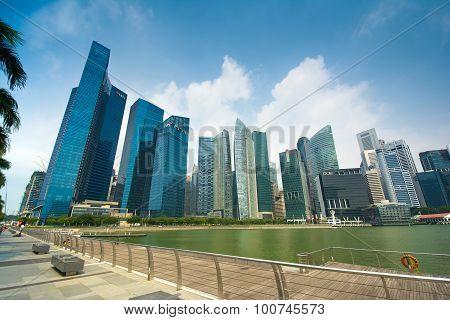 Singapore Skyline And Modern Skyscrapers