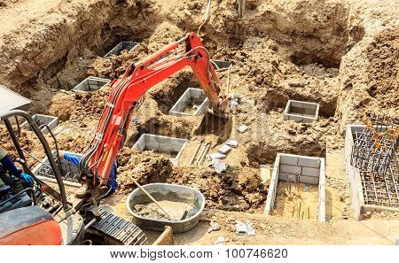 Construction Site Foundation