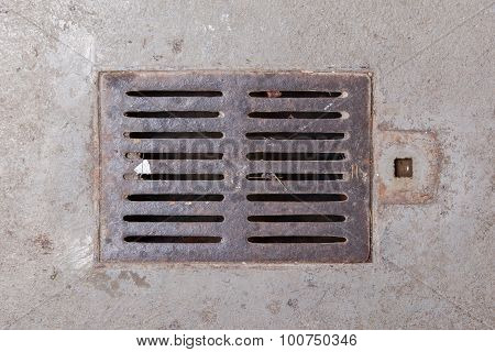 Old Dirty Drain Grate