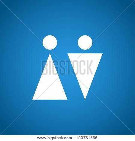 Wc Sign Icon. Toilet Symbol.
