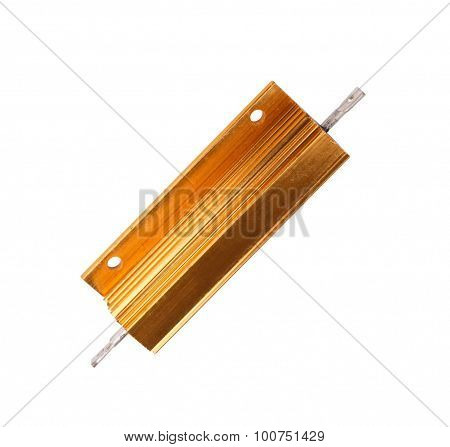 Resistor In Metal Case Isolated