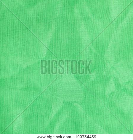 Square Background From Light Green Batiste Fabric