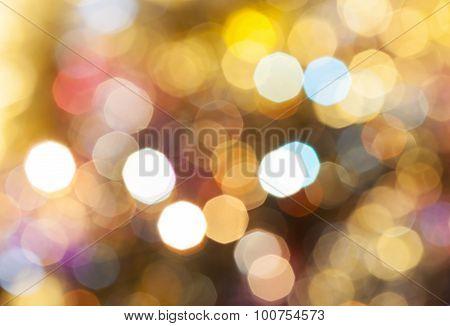 Light Brown Blurred Shimmering Christmas Lights