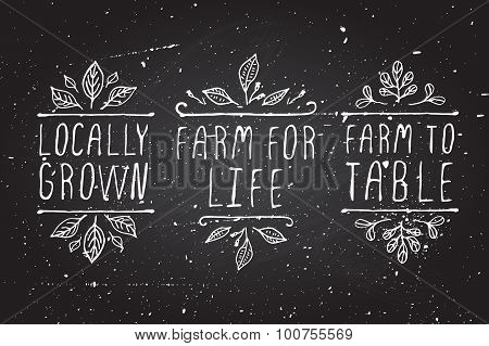 Farm product labels.