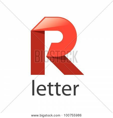 Vector Logo Red Ribbons In The Shape Of The Letter R