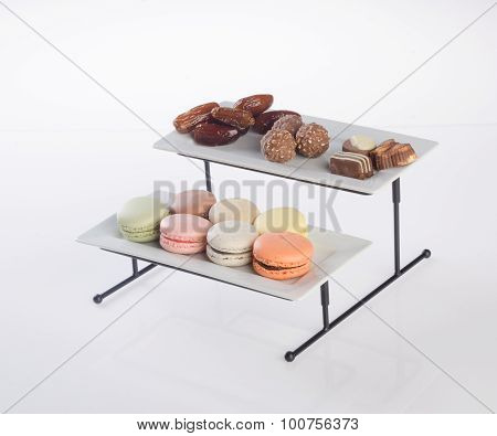 Three Tier Serving Tray On A Background.