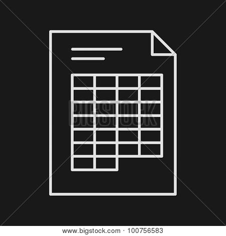 Thin Line Spreadsheet Web Icon