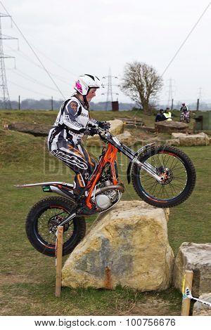 Ladies trial rider