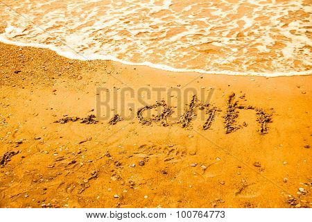 Relaxation Concept On The Beach