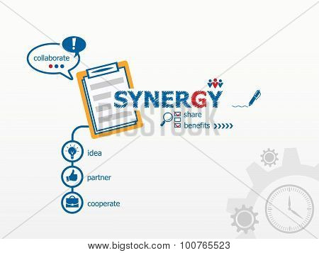 Synergy Concept And Notebook.