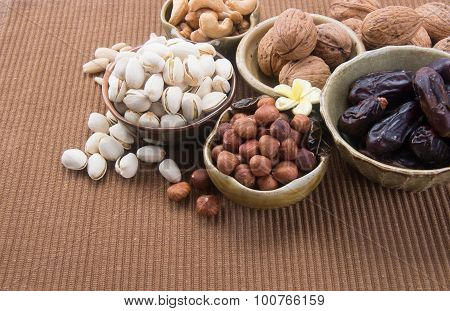 Nuts. Mixed Nuts On The Background