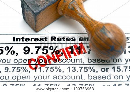 Interest Rates Confirm
