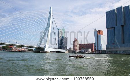 Erasmus Bridge In Rotterdam, The Netherlands