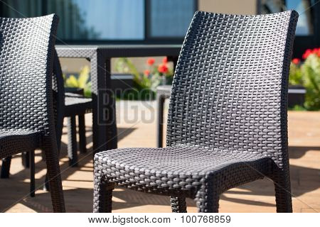Chairs And Table On Terrace