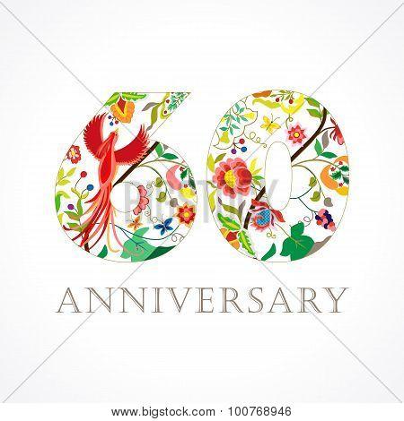 60 anniversary folk logo
