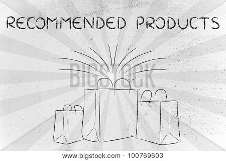 Recommended Products (shopping Bags And Retro Rays)