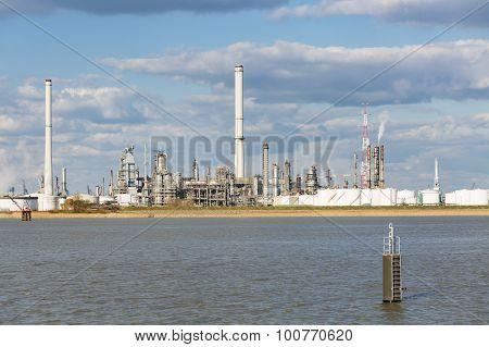 Antwerp Port Refinery And Storage Tanks