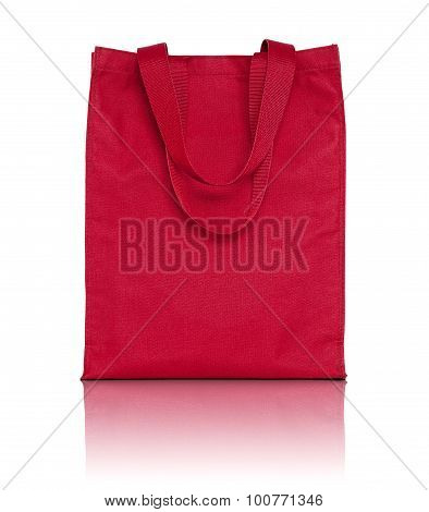 Red Shopping Fabric Bag