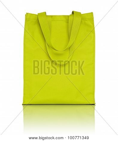 Yellow Shopping Fabric Bag