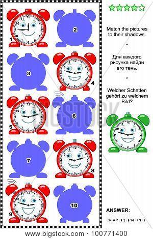 Clocks shadow game