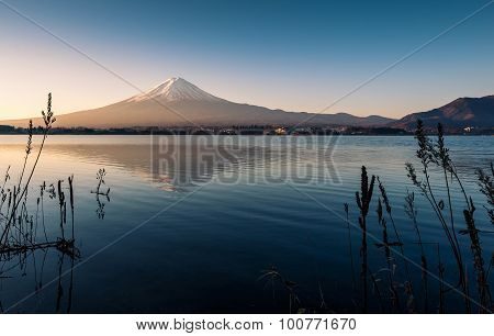 Mount Fuji View From The Lake