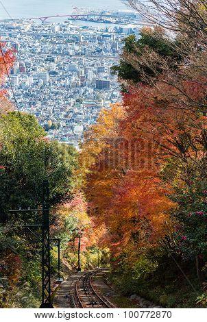 Aerial View Of Kobe City From Mount Maya Ropeway, Japan