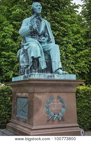 Monument To Hans Christian Andersen In Kings Garden In Copenhagen