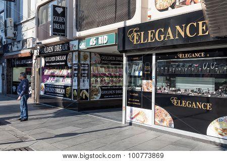 Diamond Shops In Antwerp, Belgium