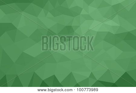 monochromatic green abstract low poly background