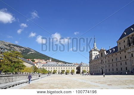 Barracks For Security And Service Staff And Monastery Of El Escorial In Spain