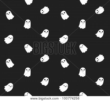 Cute Halloween Ghost Pattern