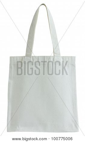 White Fabric Bag Isolated On White