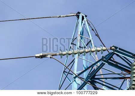Higher part of electric power transmission line, Sofia, Bulgaria