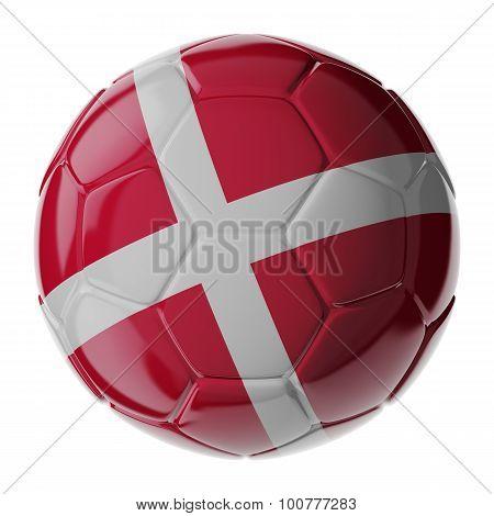 Soccer Ball. Flag Of Denmark