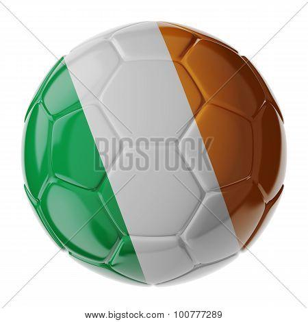 Soccer Ball. Flag Of Ireland Republic